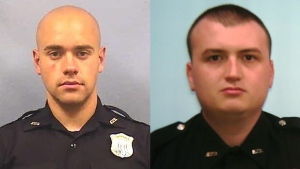 Atlanta police officer Garrett Rolfe (left) has been fired and Devin Brosnan (right) has been placed on administrative duty following the killing of Rayshard Brooks. (Atlanta Police Department via AP)