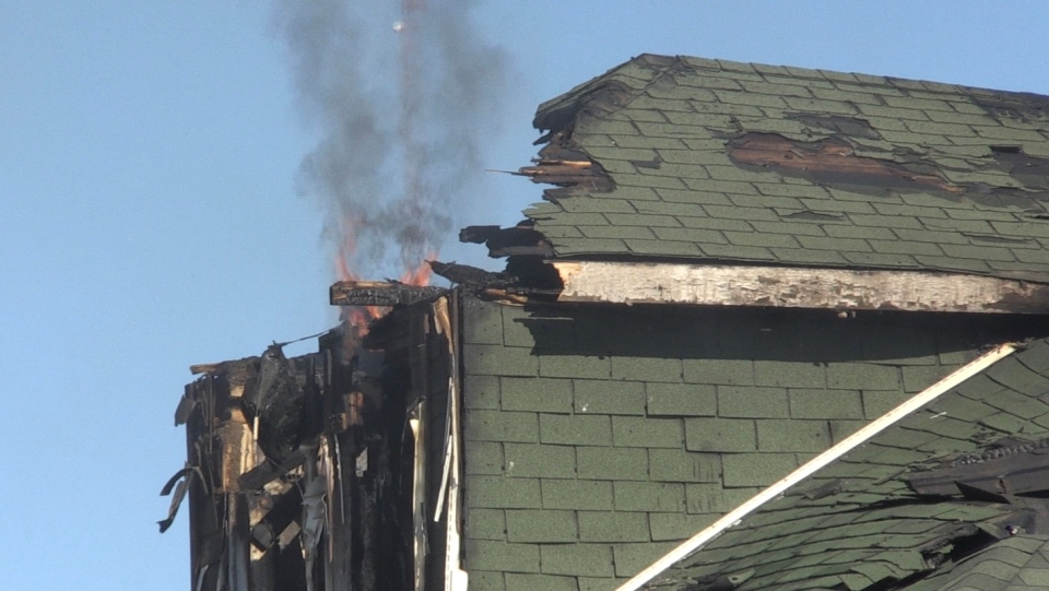 Beech Street fire in Sudbury