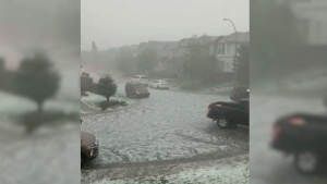 The city of Calgary saw hail and heavy rain, but Environment Canada says the storm was even more severe in other areas of Alberta.