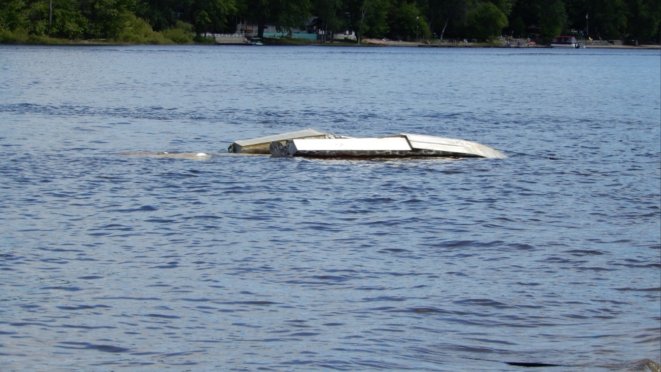 An adult male was treated for minor injuries after a plane crashed into the Ottawa River near Constance Bay on Sunday. (Photo courtesy: Marc Hallam)