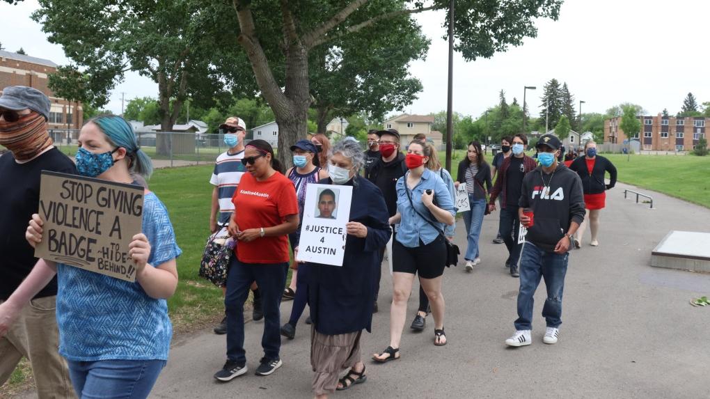 Saskatoon rally defund the police