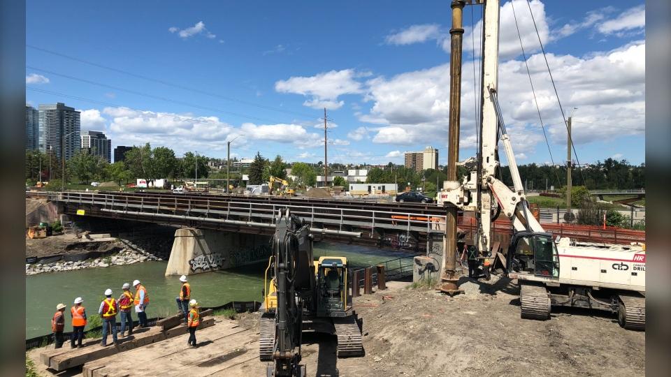 Ninth Avenue Bridge Calgary construction