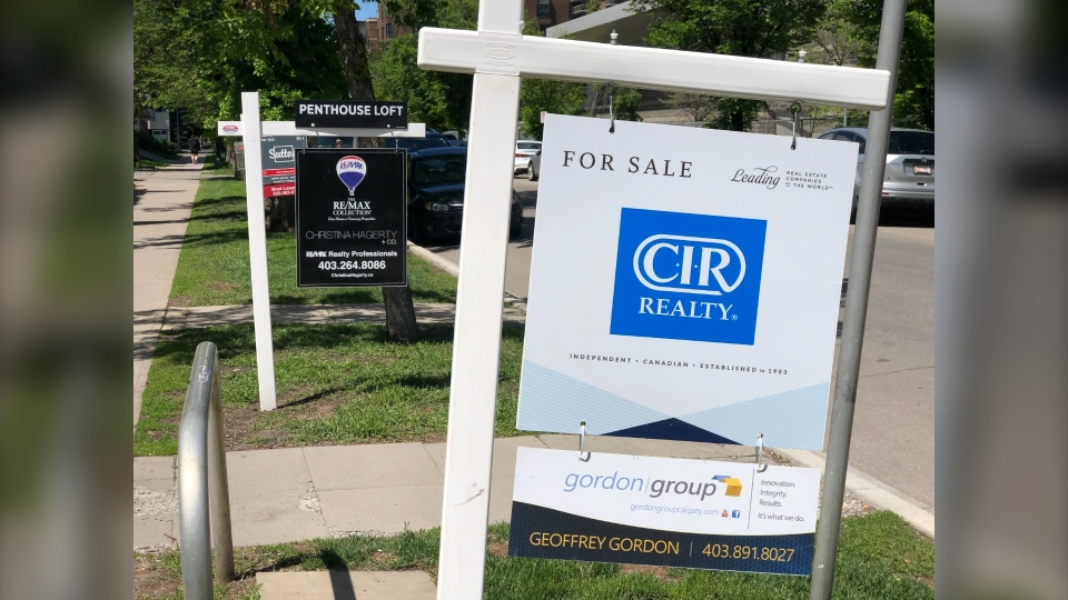 Calgary real estate sign