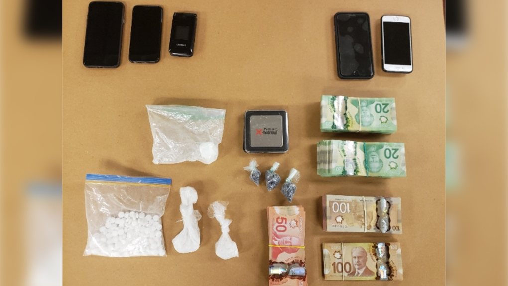 Drugs, cash and cell phones seized