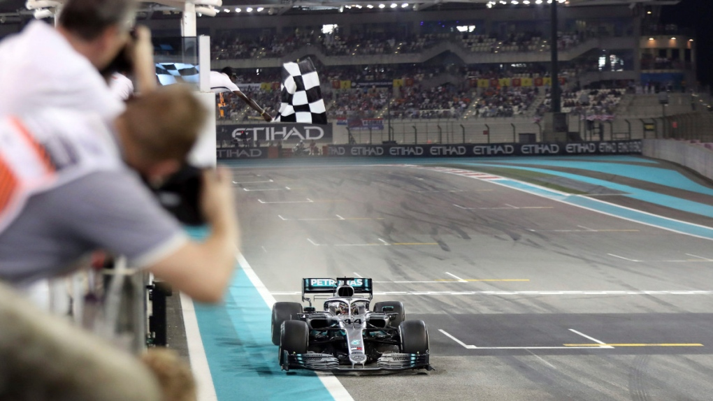 Mercedes driver Lewis Hamilton wins in Abu Dhabi