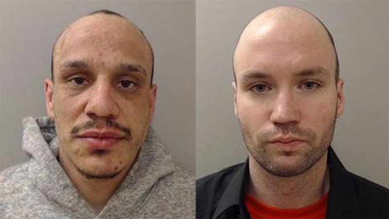 Jousha Allen Spero, aka Chase Venema (left) and Todd Wayne Campbell are wanted in relation to various charges including an aggravated assault that took place on Sunday, June 14, 2020. (Source: Sarnia Police Service)