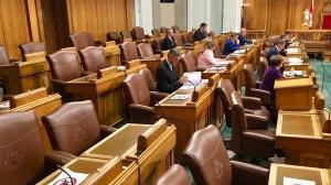 Members of Legislature returned for a short 3 week sitting on June 15 in Saskatchewan. (Gareth Dillistone / CTV News Regina)