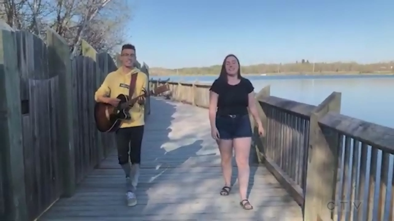 Timmins students star in tonight's song.