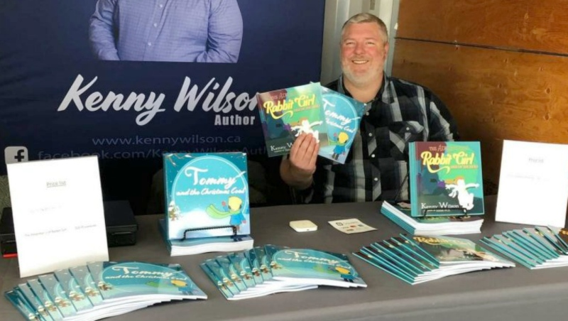 Kenny Wilson of Coniston has written a series of children's books and is donating a portion of sales to NEO Kids. (Supplied)