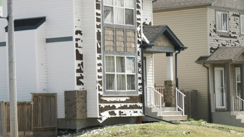 Hundreds of homes in northeast Calgary were heavily damaged in a recent hailstorm. (File photo)