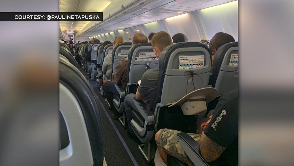 Pauline Tapuska, Flair Airlines, Twitter