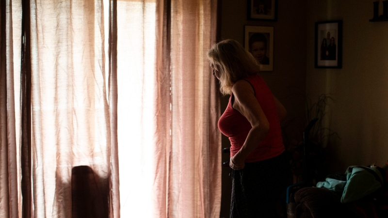 Ruby Ivanore is photographed in her apartment in Hamilton, Ont., Wednesday, April 29, 2020. THE CANADIAN PRESS/Chris Young