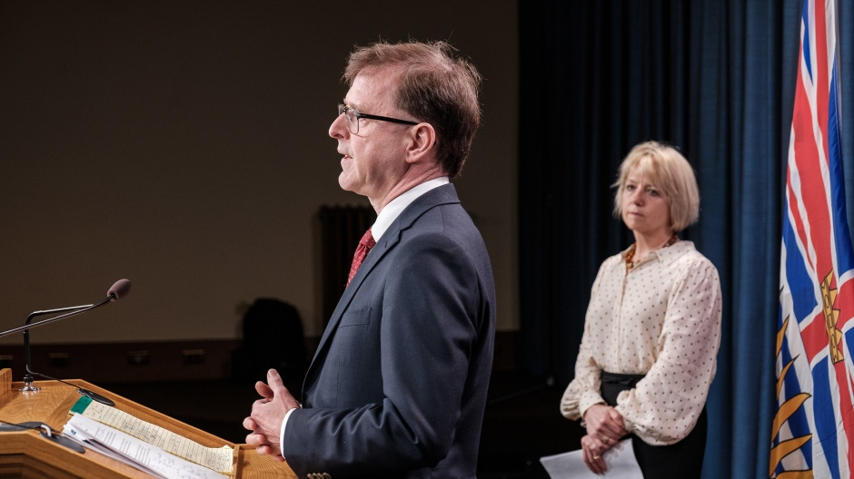 B.C. Health Minister Adrian Dix and provincial health officer Dr. Bonnie Henry provide an update on COVID-19 on June 11, 2020: (Government of BC / Flickr)