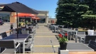The parking lot outside OCCO Kitchen has been transformed into a patio as restaurants find creative ways to entertain customers during the COVID-19 pandemic. (Katie Griffin / CTV News Ottawa)