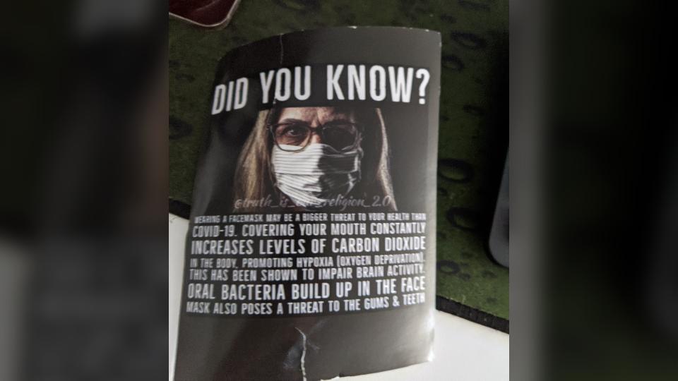 Face masks poster