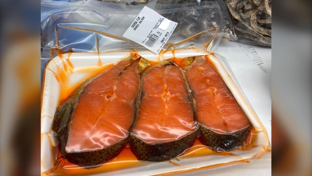Smoked salmon from Fruiterie Krazy Kris