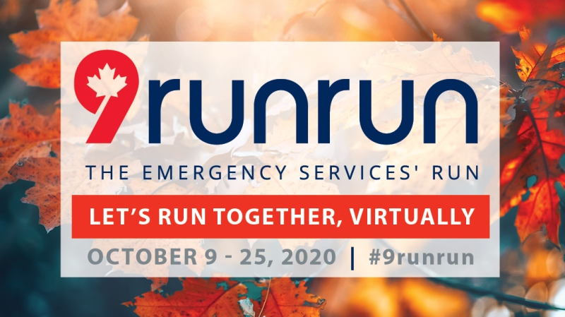 The annual 9RunRun event in support of the Ottawa First Responders Foundation is going virtual this year. (Photo: 9RunRun / Facebook)