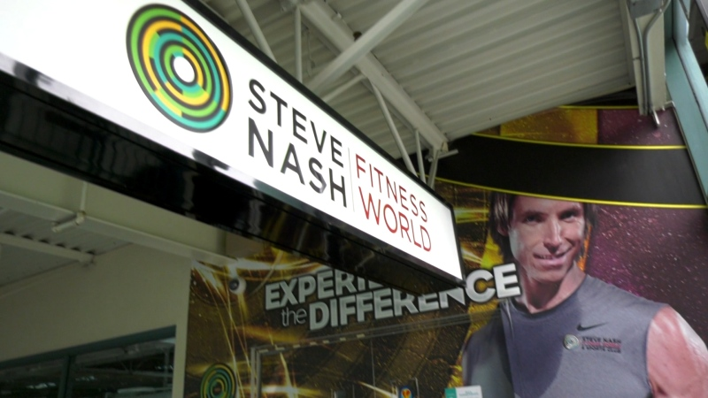 A Steve Nash Fitness World location that closed down during the pandemic.