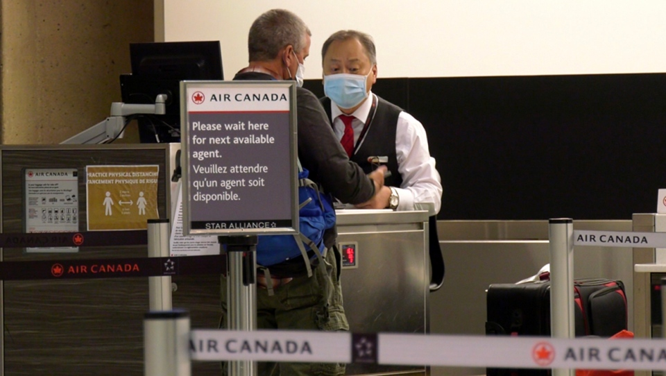 Calgary International Airport, face masks
