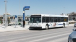 A Winnipeg Transit bus is pictured near Polo Park.