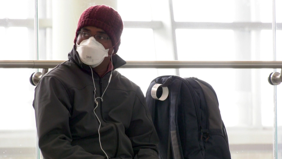 Calgary airport masks