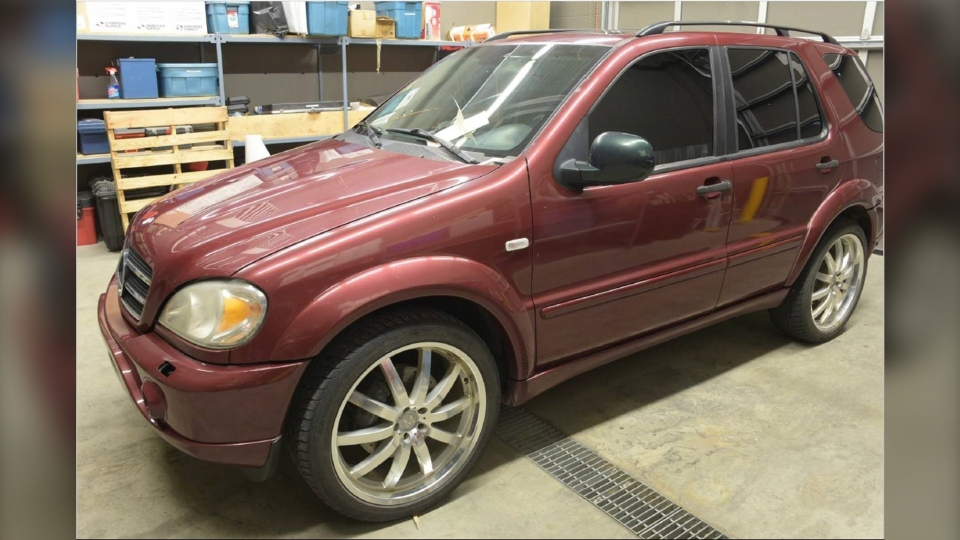 Calgary police are asking for information on this Mercedes Benz ML55 that is connected to the homicide of Shane Smith. (Courtesy Calgary police)