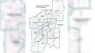 Edmonton's potential new ward boundaries. (source: City of Edmonton)