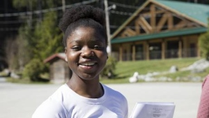 Surprise Munie is preparing for her first year at Simon Fraser University after receiving a full scholarship for basketball. Munie will be the first person in her family to attend post-secondary school. (Provided)