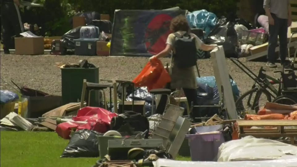 Strathcona Park homeless camp to stay for now