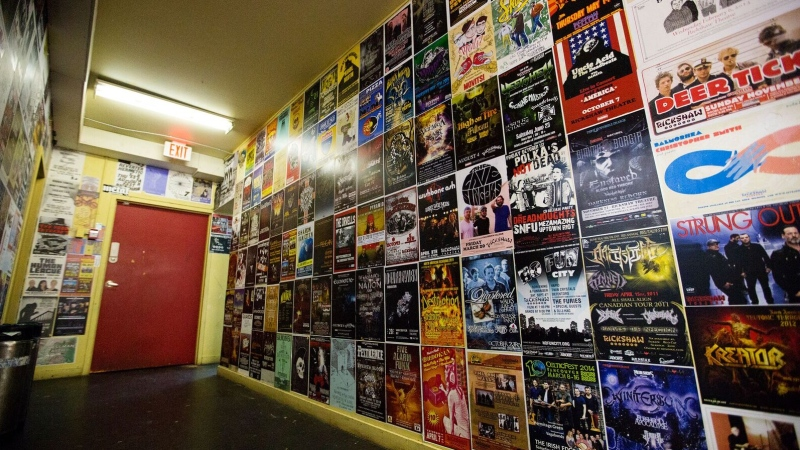 The inside of the Rickshaw Theatre is seen in this photo from the venue's Facebook page.