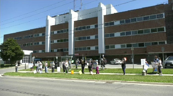 guelph general hospital protest pandemic pay