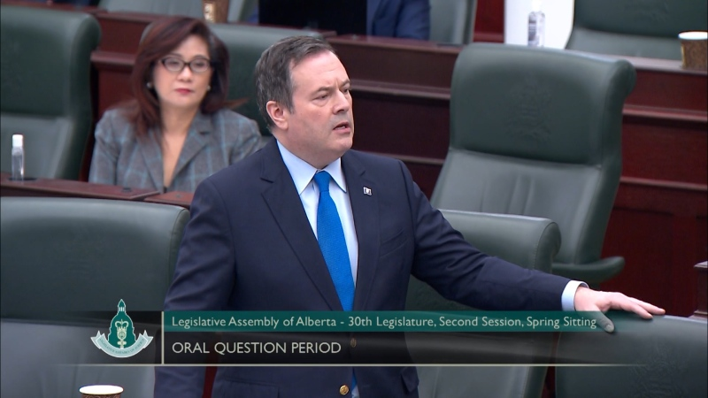 Premier Jason Kenney is set to respond to Prime Minister Justin Trudeau's address to the nation on Thursday morning. (File photo)