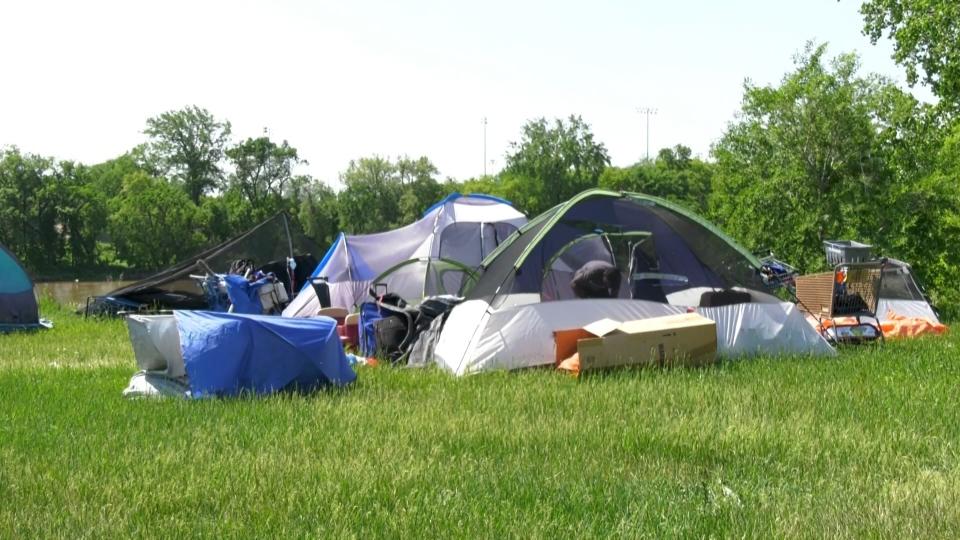 new homeless camp