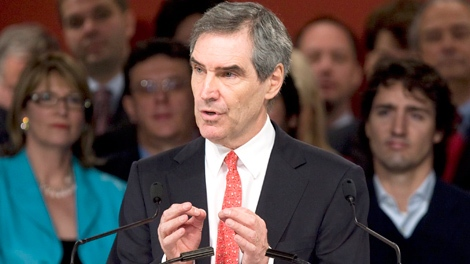 Liberal Leader Michael Ignatieff speaks at the Liberal Party of Canada (Quebec) bi-annual meeting in Quebec City, Sunday Oct. 4, 2009. (Jacques Boissinot / THE CANADIAN PRESS)