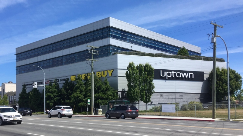 Uptown Shopping Centre in Saanich is pictured: June 18, 2020 (CTV News)