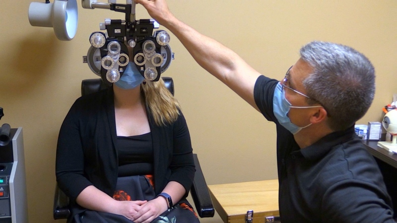 Dr. Jamie Maki of Sudbury sent a letter to Health Minister Christine Elliott, outlining the crisis optometrists in the province are facing. (Dana Roberts/CTV News)