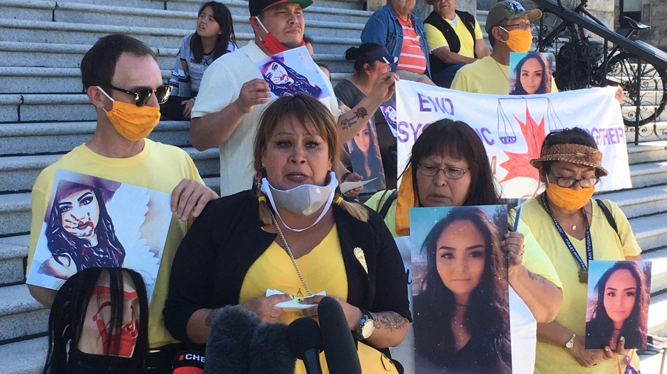 Hundreds of people digitally RSVP'd to attend a memorial and rally for Chantel Moore in Victoria: June 18, 2020 (CTV News)