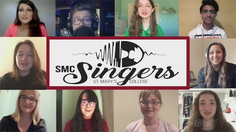 Students from St. Mary's College in the Sault are missing each other, and they sing a pair of Charlie Puth songs.