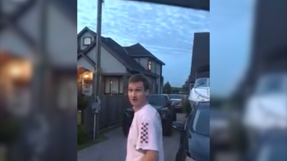 Video of a racist incident in Surrey has been shared widely on social media and prompted RCMP to warn against vigilante justice.