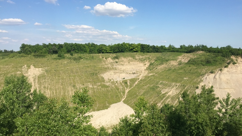 The Byron gravel pit in London, Ont. is seen on Thursday, June 18, 2020. (Bryan Bicknell / CTV London)