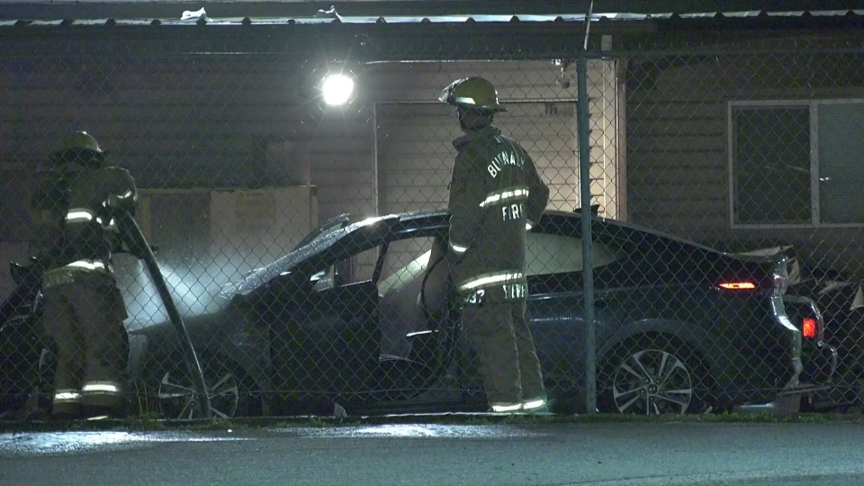 Burnaby car fire