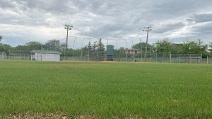 The baseball diamond located in Kiwanis Park in Regina, is seen in this image. Saskatchewan baseball diamonds are allowed to reopen on June 22, 2020.(Marc Smith/CTV News)