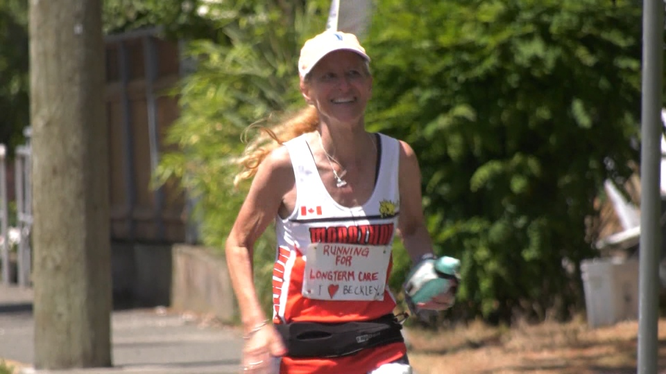 Woman runs 5 marathons