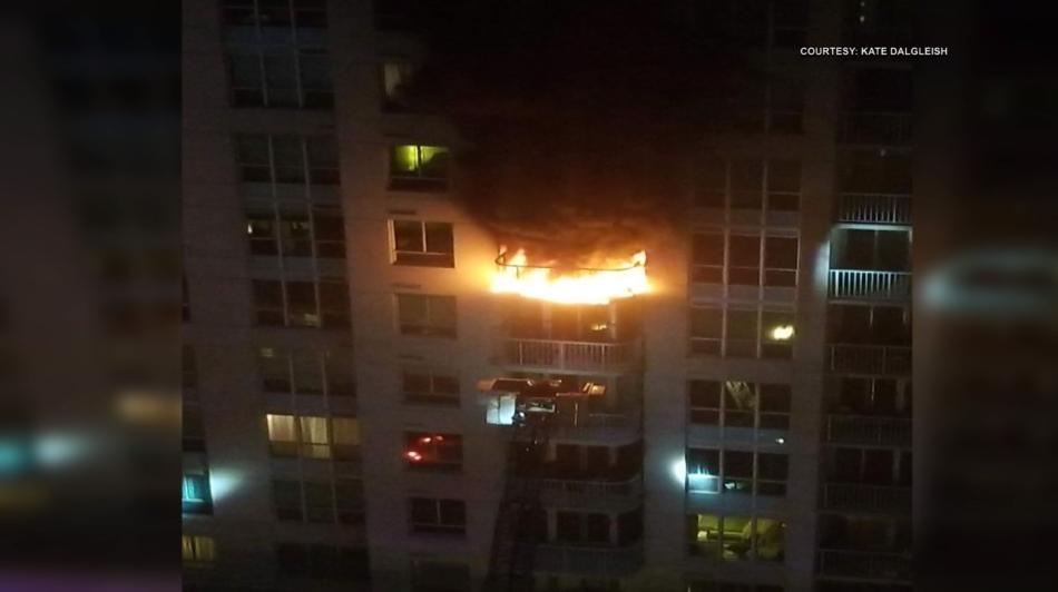 Rideau Street balcony fire