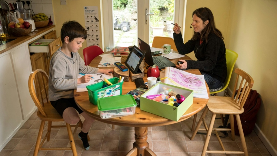 Homeschooling typically adds to the mother's working day, not the father's. (AFP)