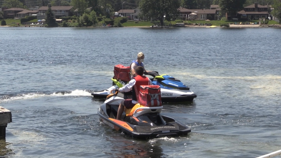 North Bay restaurant watercraft delivery service