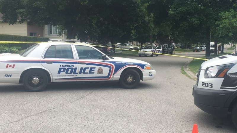Shooting and home invasion investigation on Pochard Lane in London, Ont. on June 21, 2020. (Brent Lale/CTV London)