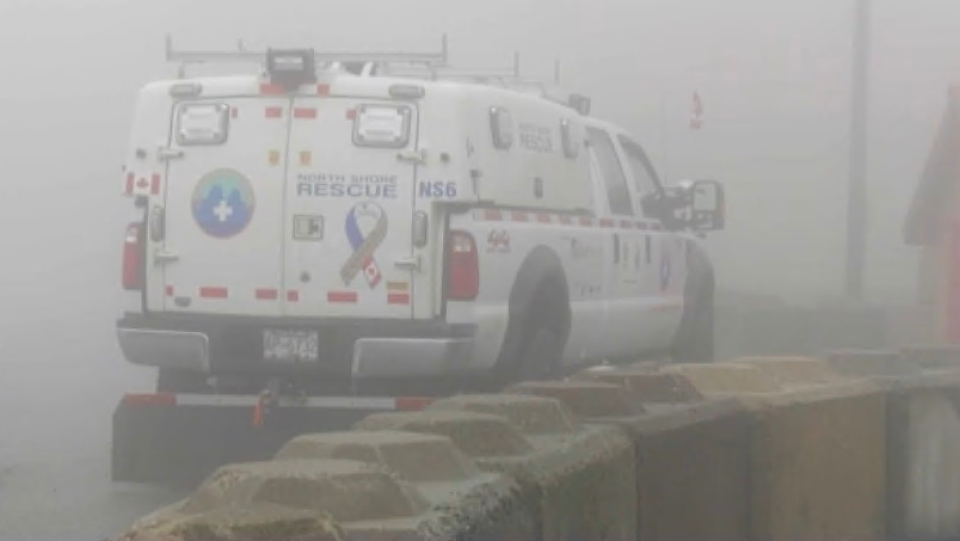 Search efforts for a lost hiker on Saturday, June 20, 2020 were initially hampered by fog. (CTV)