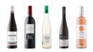 Eugen Altschuh Pinot Noir 2017, Lealtanza Crianza 2016, Château des Charmes Estate Bottled Riesling 2017, Allram Strass Grüner Veltliner 2018, L'Ostal Rosé 2019