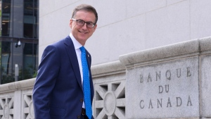 Bank of Canada Governor Tiff Macklem takes part in a photo-opportunity at the Bank of Canada in Ottawa on June 22, 2020. (THE CANADIAN PRESS / Sean Kilpatrick)